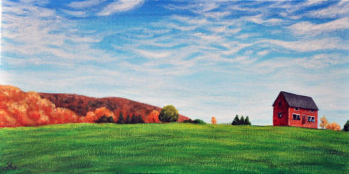 Red School House in fall (Sold)